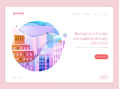 The web of Airbnb homepage vector illustration by Sean_Song