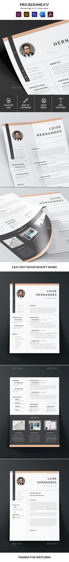 Resume / CV Template Cv Template, Templates, Cv Design, Change Image, Resume Cv, Very Well, Photoshop, Words, Minimal
