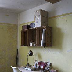 Potato boxes as a shelf