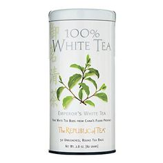 The Republic of Tea, Emperor's White Tea, 50-Count - http://teacoffeestore.com/the-republic-of-tea-emperors-white-tea-50-count/