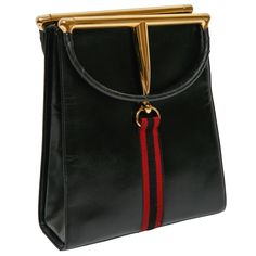 Besides your outfit, your choice of a Gucci Black Purse is always a a nice accent and will complete the stylish look. Vintage Purses, Vintage Gucci, Vintage Bags, Vintage Handbags, Handbag Accessories, Fashion Accessories, Burberry Women, Burberry Handbags, Burberry Bags