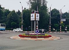 Bodet street tower clock 4 sides installed by OraExacta in Târgu Jiu City #Romania