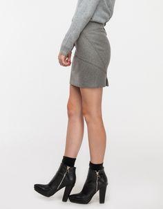 Wool Neoprene Flutter Skirt