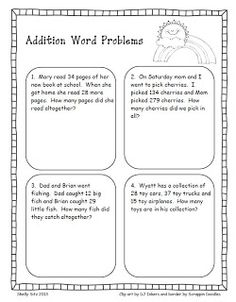 Smiling and Shining in Second Grade: Word Problems for Second Grade