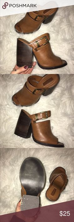 Forever 21 70s style Mules I bought them when forever 21 was having a major 60s-70s trend. They're super cute but I prefer pointed toe shoes. Worn once, they fit perfect for a 6. Forever 21 Shoes Mules & Clogs