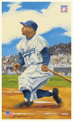 Dodgers Blue Heaven: Dick Perez Paintings of Dodger Hall of Famers at Legendary Auctions - Roy Campanella Baseball Posters, Baseball Art, Dodgers Baseball, Better Baseball, Baseball Photos, Sports Posters, Baseball Jerseys, Baseball Painting, Sports Painting