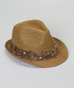 The Accessory Collective Brown Feather Fedora bbdf257b60b8