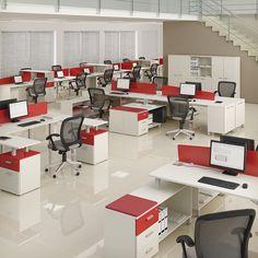 """Sistema de mobiliario para oficina """"Quadrat"""" de  Hause Mobel S.A., distinguido con el Sello de Buen Diseño 2013."""