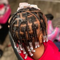 Easy Black Girl Hairstyles, Toddler Braided Hairstyles, Cute Little Girl Hairstyles, Little Girl Braids, Girls Natural Hairstyles, Baby Girl Hairstyles, Girls Braids, Toddler Braids, Ponytail Hairstyles