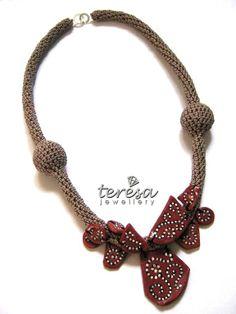 #worldofcrafters www.worldofcrafters.gr Crochet Necklace, Beaded Necklace, Crochet Jewellery, Necklaces, Wearable Art, Pretty, 1, Creativity, Jewerly