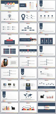 30+ multicolor Business programs PowerPoint template