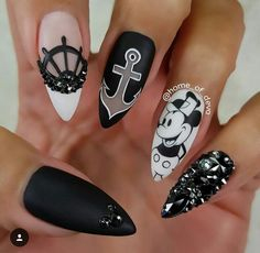 Fantabulous Pointy Nails Designs You Would Like To Have ★ Meh .- Fantabulous Pointy Nails-Designs, die Sie gerne hätten ★ Mehr sehen: naildesign … – Schönheit Fantabulous Pointy Nails Designs You Would Like ★ See More: Naildesign … pleasure - Disney Acrylic Nails, Best Acrylic Nails, Pointy Nails, Stiletto Nail Art, Disney Nail Designs, Nail Art Designs, Cartoon Nail Designs, Cute Nails, My Nails