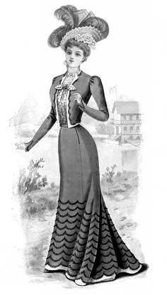Fashion 1890s Ladies Women Free Stock Image Vintage @Karen Jacot Jacot - The Graphics Fairy