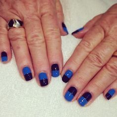 That's the compliment every woman hears when she is wearing a fly set of hand painted Nail Art by the two lovely sisters of Hey, Nice Nails! Donne and Ginny Escobar are Nail Artists. Swag Nails, Fun Nails, Nice Nails, Short Nails, Nail Polish, Nail Art, Blue, Beauty, Ideas