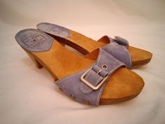 Lucky Brand Blue Jeans of America Womens Size 8M High Heel Shoes Blue Beige #LuckyBrandBlueJeansofAmerica #OpenToe