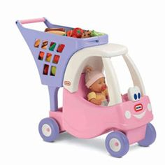 Little Tikes Cozy Coupe Shopping Cart I found on WayFair. I actually like Cozy Coupe Shopping Cart II: Primary Colors but this was a better picture. Little Tikes, Baby Girl Toys, Toys For Girls, Baby Alive Dolls, Baby Dolls, Toddler Toys, Kids Toys, Girl Toddler, Toys R Us
