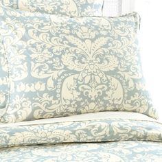 Pine Cone Hill Gianna Duvet Cover and Shams in Dusty Blue