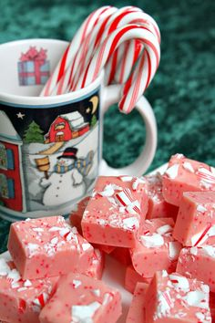 Candy Cane Fudge Recipe