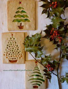 Tarjetas de Navidad de Galleta