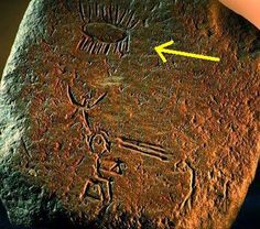 Ecuador - 10.000 BC, stone carvings of a alien type craft.