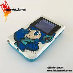 Image of Immediate Shipment: Mega Man themed backlit Original Nintendo Gameboy