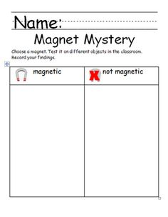 Chalk Talk: A Kindergarten Blog: A Magnetic Attraction