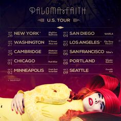 Paloma Faith's US tour dates.