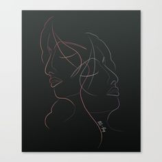 Authîel Rainbow Minimalist Canvas Print by weivy Art Prints For Home, Minimalist Art, Ivy, Canvas Prints, Rainbow, Rain Bow, Minimalism Art, Rainbows, Photo Canvas Prints