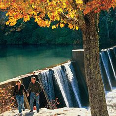 Stone dam built across Alabama's Little River in 1924 near Mentone, Alabama.