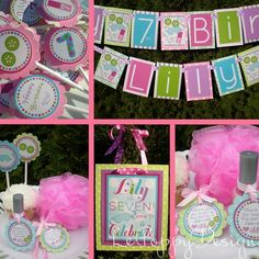 """Girl Spa Party Ideas - This is the perfect birthday party theme for a young girl that is ready for a more """"big girl"""" party ;)"""