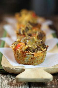 Cheeseburger Hash Brown Cups- use ff cheese to make Simply Filling!