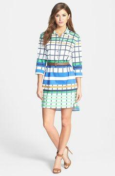 Donna Morgan Check Print Shirtdress available at #Nordstrom
