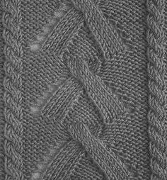 Рельефный узор спицами 35