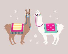 Drama Llama Art Print by Running River Design - X-Small Alpacas, Mandala Art, Cute Llama, Llama Llama, Llama Arts, Llama Birthday, Packaging Design Inspiration, Cute Illustration, Happy Anniversary