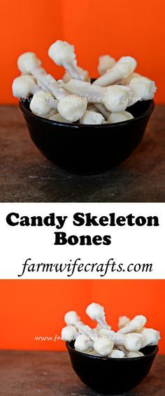 These candy skeleton bones are only 3 ingredients. Pretzels, marshmallows and white chocolate. Perfect for trick-or-treaters.
