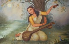 Beautiful ode to Lord Krishna by the eternal devotee Meera Bai. You can feel the longing in the lyrics that are brought to life by Lata's angelic voice. Female Poets, The Mahabharata, Online Painting, Gods And Goddesses, Woman Painting, Indian Art, Art Music, Deities, Artists