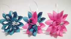 Paper Flower Falling Star Christmas Ornaments by DanasPaperFlowers