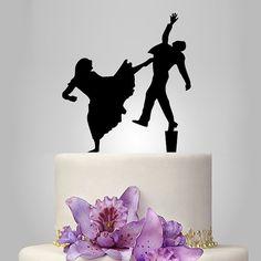 mariée et le marié mariage cake TOPPER, topper gâteau drôle, topper gâteau unique, combattre topper de mariage
