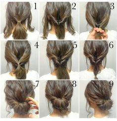 Easy, hope this works out quick morning hair!: Easy, hope this works out quick morning hair!:,Прически Easy, hope this works out quick morning hair! Medium Hair Styles, Curly Hair Styles, Short Hair Styles Easy, Short Hair Wedding Styles, How To Style Short Hair, Shorter Hair Styles, Wedding Hair For Short Hair, Hair Styles For Prom, Thin Hair Styles For Women