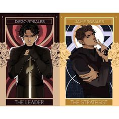 The Brothers Rosales! Diego and Jaime from Lord of Shadows drawn by @aegisdea as part of her portrait series of Dark Artifices characters. So gorgeous!