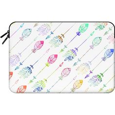 Cute girly pastel watercolor arrows patterns - Macbook Sleeve (190 BRL) ❤ liked on Polyvore featuring accessories, tech accessories and macbook sleeve