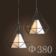 Yiman - Black/White Iron and Fabric Vintage Pendant lamps YM2105-D1B - ceiling light - Yiman