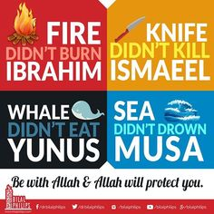 Things aren't always as they seem. Umm Musa was told to throw her son in to the river, Yusuf was left in a well, Maryam delivered a child alone, Yunus was swallowed by a whale, Ibrahim was thrown in the fire and Umm Salamah thought no one could be better