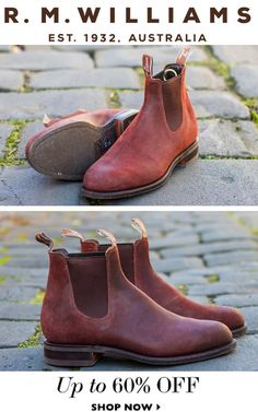 R M Williams Boots, Rm Williams, Lace Up Boots, Leather Boots, Shoe Boots, Ankle Boots, Online Clothes, Alan Watts, Board Art
