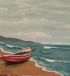 Akrylik on canvas Painting Art, Waves, Outdoor, Outdoors, Outdoor Games, Art Paintings, The Great Outdoors, Painting