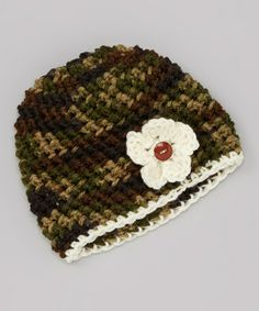 c6ddbf240ab Take a look at this Green Camo Blossom Beanie on zulily today!