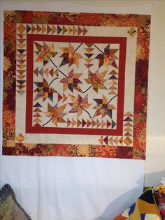 My Signs of Autumn of Quilt pattern from Studio 180 Design, uses the Wing clipper, v-block, and square^2 rulers.
