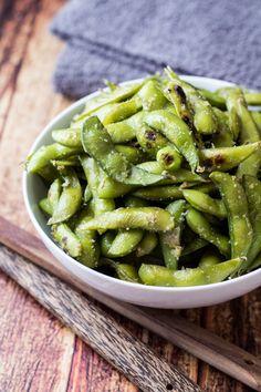 Garlic & Ginger Edamame Recipe - made with freezer-aisle soy beans!