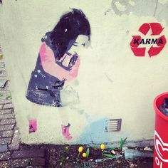 Love this street art Photo by @Angela Ritchie ritchieacecamps on instagram.
