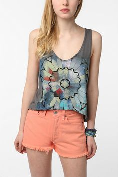 UrbanOutfitters.com > Truly Madly Deeply Rose Window Cropped Tank